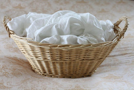 fitted sheet basket