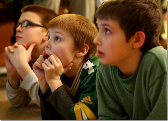 boys watching